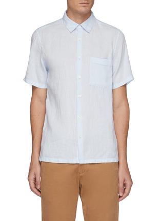 首图 - 点击放大 - THEORY - 亚麻短袖衬衫