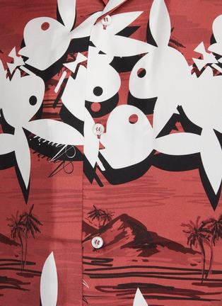 - AMIRI - X PLAYBOY椰树图案真丝衬衫