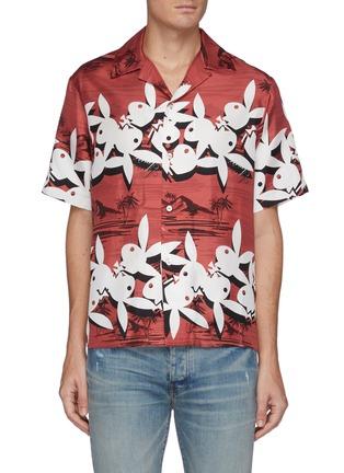 首图 - 点击放大 - AMIRI - X PLAYBOY椰树图案真丝衬衫