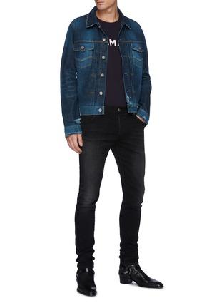 模特儿示范图 - 点击放大 - BALMAIN - 刺绣LOGO牛仔裤