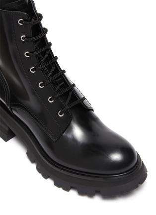 细节 - 点击放大 - ALEXANDER MCQUEEN - WANDER系带战斗靴