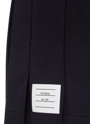 - THOM BROWNE - 拼色条纹前短后长百褶纯棉半裙