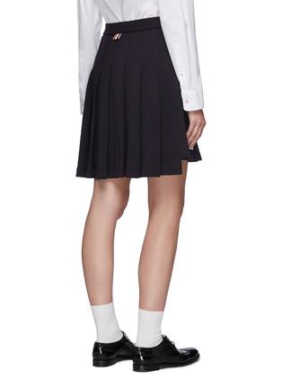 背面 - 点击放大 - THOM BROWNE - 拼色条纹前短后长百褶纯棉半裙