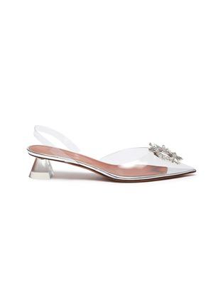 首图 - 点击放大 - AMINA MUADDI - BEGUM仿水晶点缀几何鞋跟PVC裸跟鞋