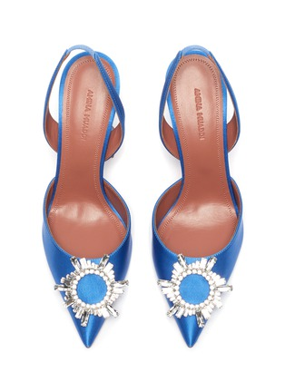细节 - 点击放大 - AMINA MUADDI - BEGUM仿水晶点缀缎面高跟鞋