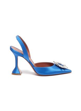 首图 - 点击放大 - AMINA MUADDI - BEGUM仿水晶点缀缎面高跟鞋