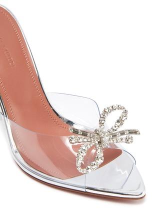 细节 - 点击放大 - AMINA MUADDI - ROSIE仿水晶点缀几何鞋跟PVC高跟鞋