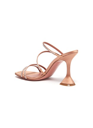 - AMINA MUADDI - NAMIA仿水晶点缀搭带几何鞋跟凉鞋