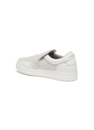 - ACNE STUDIOS - BULLER品牌名称拼接绒面真皮便鞋