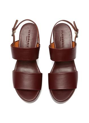 细节 - 点击放大 - CLERGERIE - CORA双搭带真皮高跟鞋