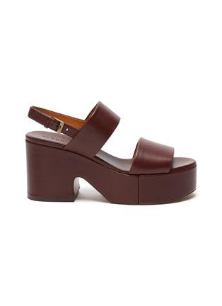 首图 - 点击放大 - CLERGERIE - CORA双搭带真皮高跟鞋