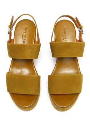 细节 - 点击放大 - CLERGERIE - CORA双搭带绒面皮高跟鞋