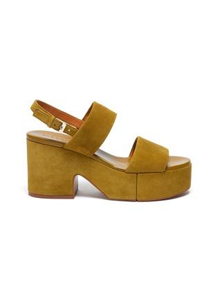 首图 - 点击放大 - CLERGERIE - CORA双搭带绒面皮高跟鞋