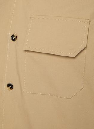 - BOTTEGA VENETA - 纹理钮扣翻盖口袋棉质短袖衬衫