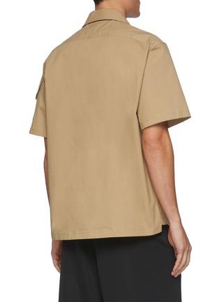 背面 - 点击放大 - BOTTEGA VENETA - 纹理钮扣翻盖口袋棉质短袖衬衫
