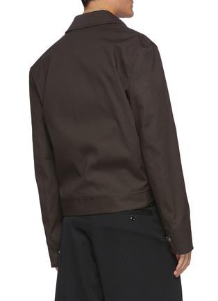 背面 - 点击放大 - BOTTEGA VENETA - 搭扣棉质衬衫式夹克