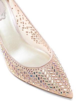 细节 - 点击放大 - RENÉ CAOVILLA - 仿水晶缀饰网面高跟鞋