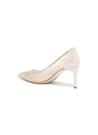 - RENÉ CAOVILLA - 仿水晶缀饰网面高跟鞋