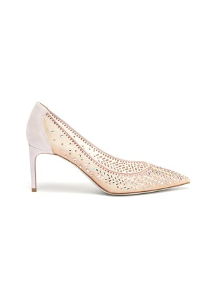 首图 - 点击放大 - RENÉ CAOVILLA - 仿水晶缀饰网面高跟鞋