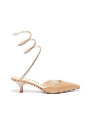 首图 - 点击放大 - RENÉ CAOVILLA - CLEO仿水晶点缀绕踝绊带低跟凉鞋