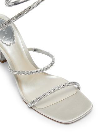 细节 - 点击放大 - RENÉ CAOVILLA - CLEO仿水晶点缀绕踝式缎面高跟凉鞋