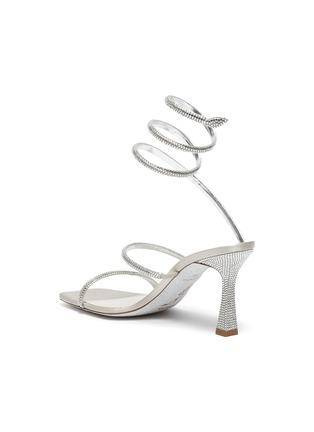 - RENÉ CAOVILLA - CLEO仿水晶点缀绕踝式缎面高跟凉鞋