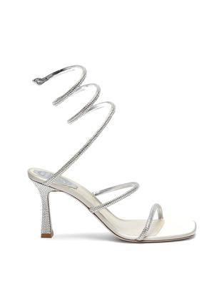 首图 - 点击放大 - RENÉ CAOVILLA - CLEO仿水晶点缀绕踝式缎面高跟凉鞋