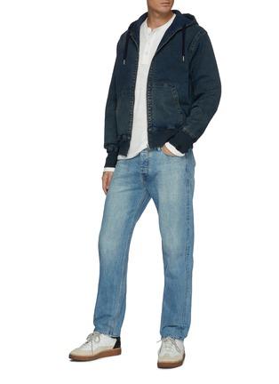 模特儿示范图 - 点击放大 - RAG & BONE - DAMON拉链连帽牛造夹克