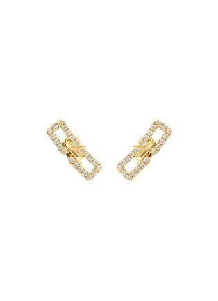 细节 - 点击放大 - SARAH ZHUANG - 钻石点缀18k黄金耳环