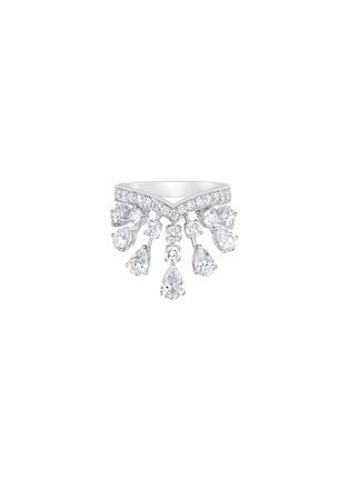 首图 - 点击放大 - SARAH ZHUANG - 钻石点缀18k白金几何造型戒指