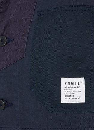 - FDMTL - 几何拼贴纯棉夹克