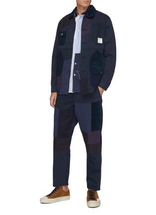 模特儿示范图 - 点击放大 - FDMTL - 几何拼贴纯棉夹克