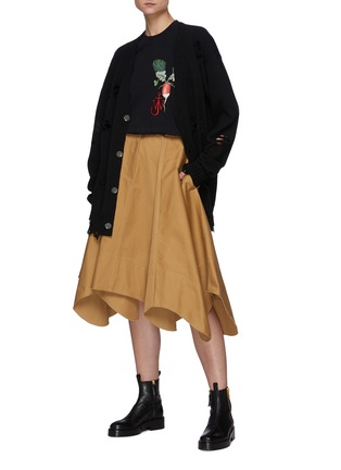 模特儿示范图 - 点击放大 - JW ANDERSON - 不规则裙摆半裙