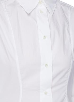 - JW ANDERSON - 收腰不规则褶裥府绸衬衫