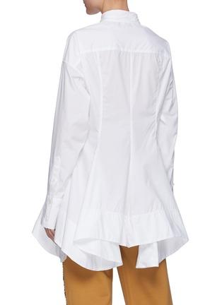 背面 - 点击放大 - JW ANDERSON - 收腰不规则褶裥府绸衬衫