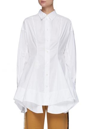 首图 - 点击放大 - JW ANDERSON - 收腰不规则褶裥府绸衬衫