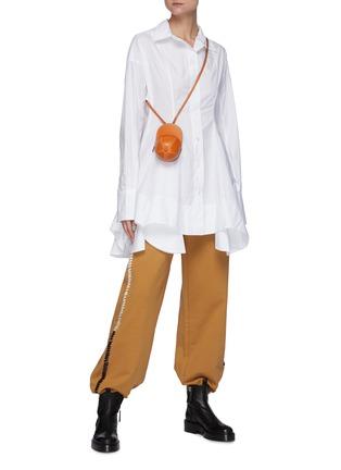 模特儿示范图 - 点击放大 - JW ANDERSON - 收腰不规则褶裥府绸衬衫