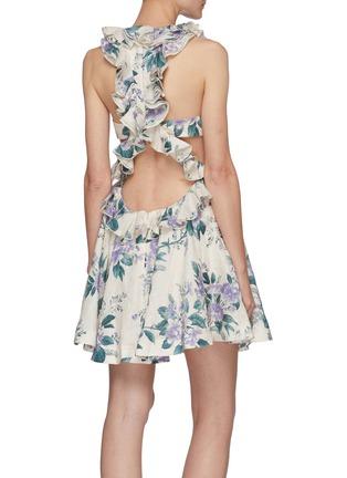 背面 - 点击放大 - ZIMMERMANN - CASSIA镂空花边花卉图案亚麻连衣裙镂空花边花卉图案亚麻连衣裙