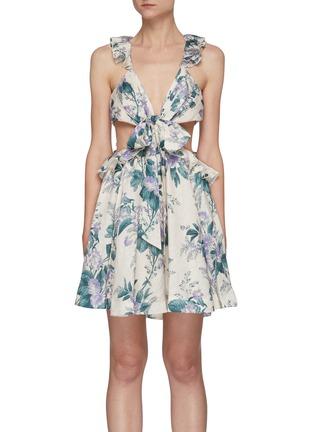 首图 - 点击放大 - ZIMMERMANN - CASSIA镂空花边花卉图案亚麻连衣裙镂空花边花卉图案亚麻连衣裙