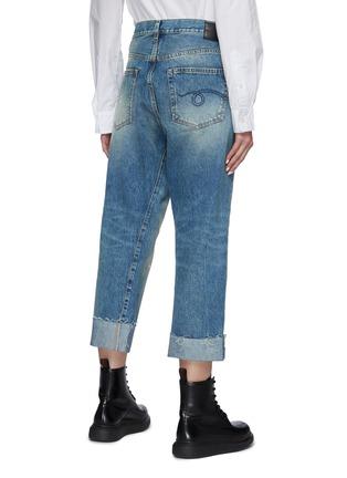 背面 - 点击放大 - R13 - CROSSOVER不规则搭叠裤腰直脚卷边牛仔裤