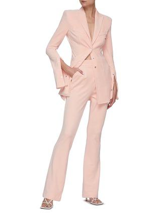 模特儿示范图 - 点击放大 - ALEXANDERWANG - 天鹅绒休闲裤