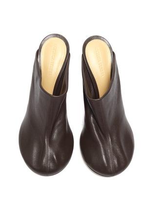细节 - 点击放大 - BOTTEGA VENETA - DOT SOCK真皮高跟穆勒鞋