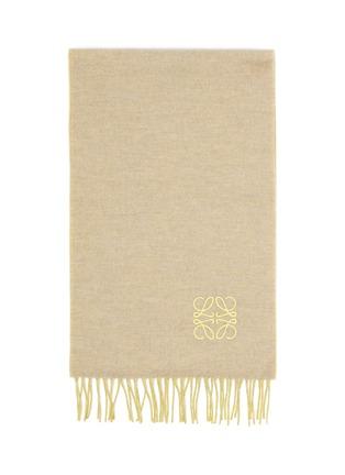 细节 - 点击放大 - LOEWE - ANAGRAM LOGO双色羊毛混羊绒围巾