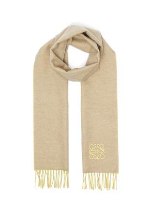 首图 - 点击放大 - LOEWE - ANAGRAM LOGO双色羊毛混羊绒围巾