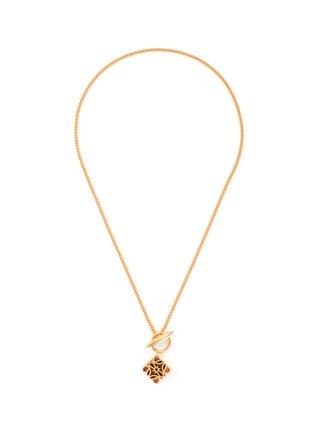首图 - 点击放大 - LOEWE - 立体Anagram logo黄铜吊坠项链