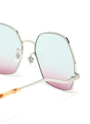 细节 - 点击放大 - GUCCI - 波浪造型金属太阳眼镜
