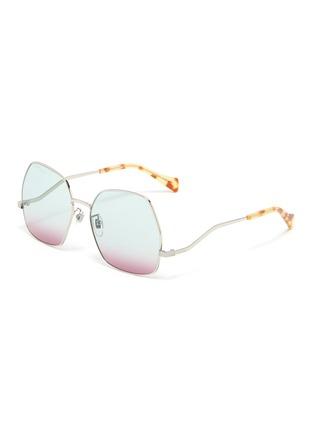 首图 - 点击放大 - GUCCI - 波浪造型金属太阳眼镜