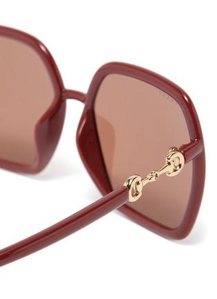 细节 - 点击放大 - GUCCI - 马衔扣缀饰OVERSIZE板材方框太阳眼镜