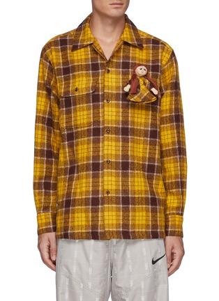 首图 - 点击放大 - DOUBLET - 玩偶缀饰羊毛格纹衬衫
