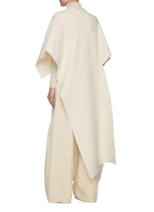背面 - 点击放大 - JIL SANDER - V领不对称提花羊毛针织斗篷式上衣